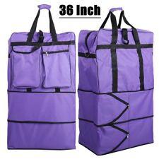 """Large 36"""" Wheeled Travel Trolley Luggage Suitcase Holdall Bag Case Expandable"""