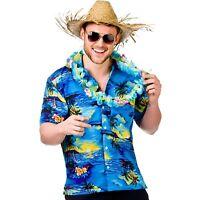 disfraz hawaiano para hombre Camisa Palmera Estampado S M L XL NUEVO CON