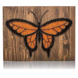 DIY String Art Kit - Monarch Butterfly String Art, DIY Kit for Adults