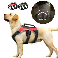 No Pull Large Dog Harness with Handle Reflective Mesh Padded Adustable Labrador