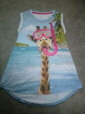 girls next giraffe print dress age 6