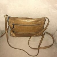 Hobo International Leather Crossbody Bag Purse Light Brown