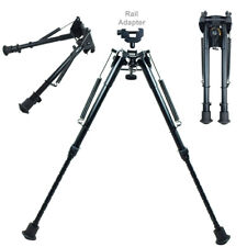 """9"""" to 13"""" Adjustable Spring Return Hunting Rifle Bipod with Rail Adapter"""