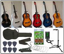 Pack Guitare Classique 4/4 pour Adulte + 8 Accessoires ! Neuf & Garantie
