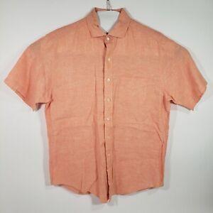 Brooks Brothers Men's  Button Up Short Sleeve Shirt Irish Linen Size Large