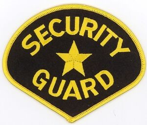 """SECURITY GUARD Embroidered Patches 3.45""""x4.25"""" iron-on"""