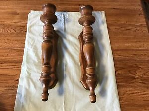 """Pair Of Wooden Wall Sconces 16"""""""