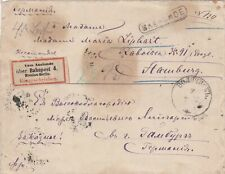 1877: Registered Letter from Russia to Hamburg