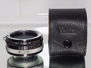 VIVITAR TELECONVERTER 2X AUTO IN NIKON F Non AI Mount . Plus Original Case.
