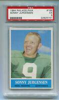 1964 Philadelphia Sonny Jurgensen Card #186 PSA 5