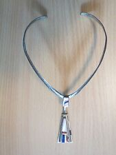 DAVID TUNE INLAID STERLING SILVER NECKLACE WITH PENDANT