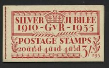 1935 3/- RED SILVER JUBILEE BOOKLET EDITION No 295. SG BB28