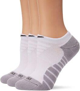 Nike Women 179151 Dry Cushion No Show Training Socks 3-Pair Pack White Size S
