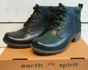 Ladies Earth Spirit Paxton 2 Soft Leather & Suede Lace & Zip Ankle Boots