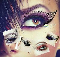 Face Eye Temporary Tattoo, Eye liner Shadow Transfer, Eye Rock Sticker UK Seller