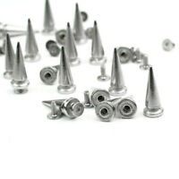 """Pkg of 20 ROUND 3//8/"""" Metal Spike Tack Studs 10mm Purses Belts Leather 5410"""