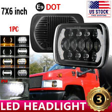 "For Chevy Express Savana 1500 2500 3500 7x6"" LED Headlight Hi/Lo Beam Halo DRL"