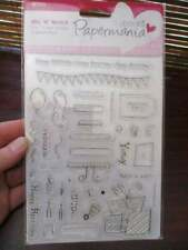 Card Paper Craft Card Making Silicone Ink Stamps Papermania Do Crafts Celebrate