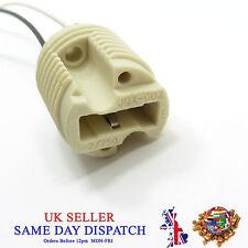 G9 Base Ceramic Socket Lamp Holder Cable Halogen LED Bulb Light Fitting