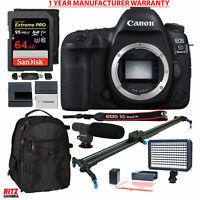 Canon EOS 5D Mark IV SLR Camera Body with Polaroid Track Slider Accessory Bundle
