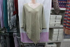 100% Cashmere Poncho -Colour 'Natural Crim' Pashmina Poncho -Hand Made in Nepal