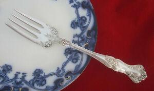 Antique 1847 Rogers VINTAGE GRAPE 1904 Meat Serving Fork with Ornate Shoulder