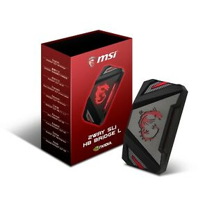 MSI 2WAY SLI HB BRIDGE L, Black with Red LED Backlights