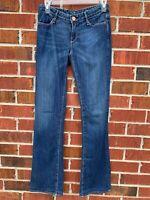 "earnest sewn ""Hefner"", bootcut jeans, size 26 blue jean denim pants"