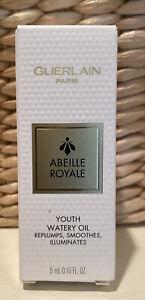 NIB GUERLAIN Abeille Royale Youth Watery Face Oil Travel Size 0.16 oz / 5 mL