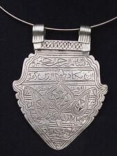 Antique Islamic silver Amulet necklace pendant antik Silber Amulett Anhänger 18B