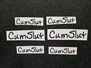 Temporary Tattoos displaying 'CumSlut' Swinger Hotwife Cuckold