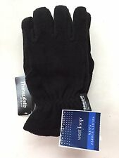 West Loop Mens Winter Fleece 3M Thinsulate Warm Gloves Black NWT!
