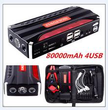 NEW 80000mAh Car Jump Starter Pack Booster Battery Charger 4 USB Power Bank