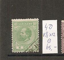 nederlands Suriname 4D,  11,5x12 tanding VFU/gebr  cv 65 €