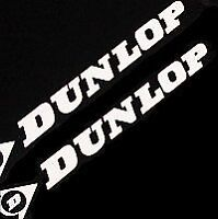 DUNLOP WHITE 13in 33cm LONG sponsor decal sticker s SET racing r 1 6 3 gsxr 600