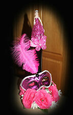 10 Quinceanera SWEET SIXTEEN Masquerade Centerpieces WHOLESALE LOT Mask Feather
