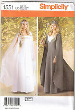 Renaissance Queen Princess Wedding Dress Gown Sewing Pattern Plus 16 18 20 22 24