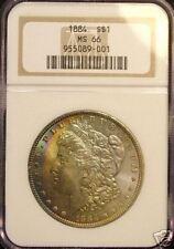 1884 Morgan Dollar NGC MS66 Cresent Rainbow Tone !!!