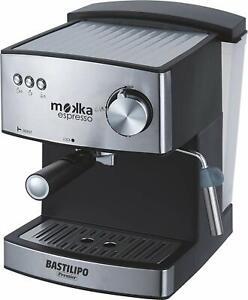 Bastilipo Mokka Express 20 BAR Coffee Maker Ground And Serving Stainless Steel