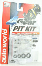 Auto World 4 Gear Pit Kit W/ Pickups, Guides, Springs, Brushes & Tires