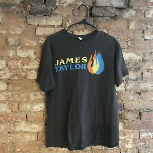 James Taylor North American Tour 2012 T-Shirt Charcoal T-Shirt Size Large