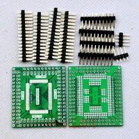 2pcs LQFP/QFP100 0.65mm to DIP Adapter Double Side PCB Board Convert RTL8019 E52