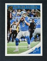 2018 Donruss Football Base #94 Matthew Stafford - Detroit Lions
