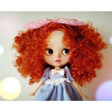 "[wamami] For 12"" Neo Blythe/Takara Doll Red CurlyWavy Hair Wig Scalp (Only hair)"