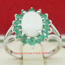 Emerald Sterling Silver Fine Rings