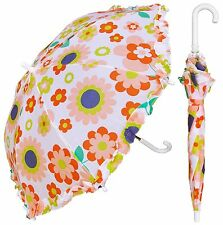 "32"" Children Kid Retro Flower Umbrella - RainStoppers Rain/Sun UV Cute"