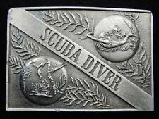 New listing RG13151 VINTAGE 1976 **SCUBA DIVER** COMMEMORATIVE NOVELTY PEWTER BELT BUCKLE
