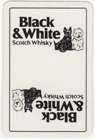 Playing Cards 1 Single Swap Card Old Vintage BLACK & WHITE Whisky TERRIER DOGS