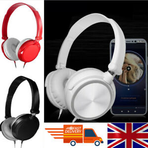 Wired Bass HiFi Stereo Headphones Earphone Headset Over Ear For iPhone Samsung