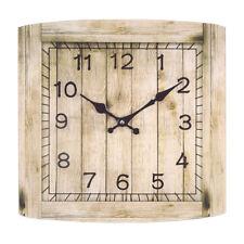 Cambridge Wanduhr ca. 34x34 cm Glasuhr analoge Glas Wand Uhr